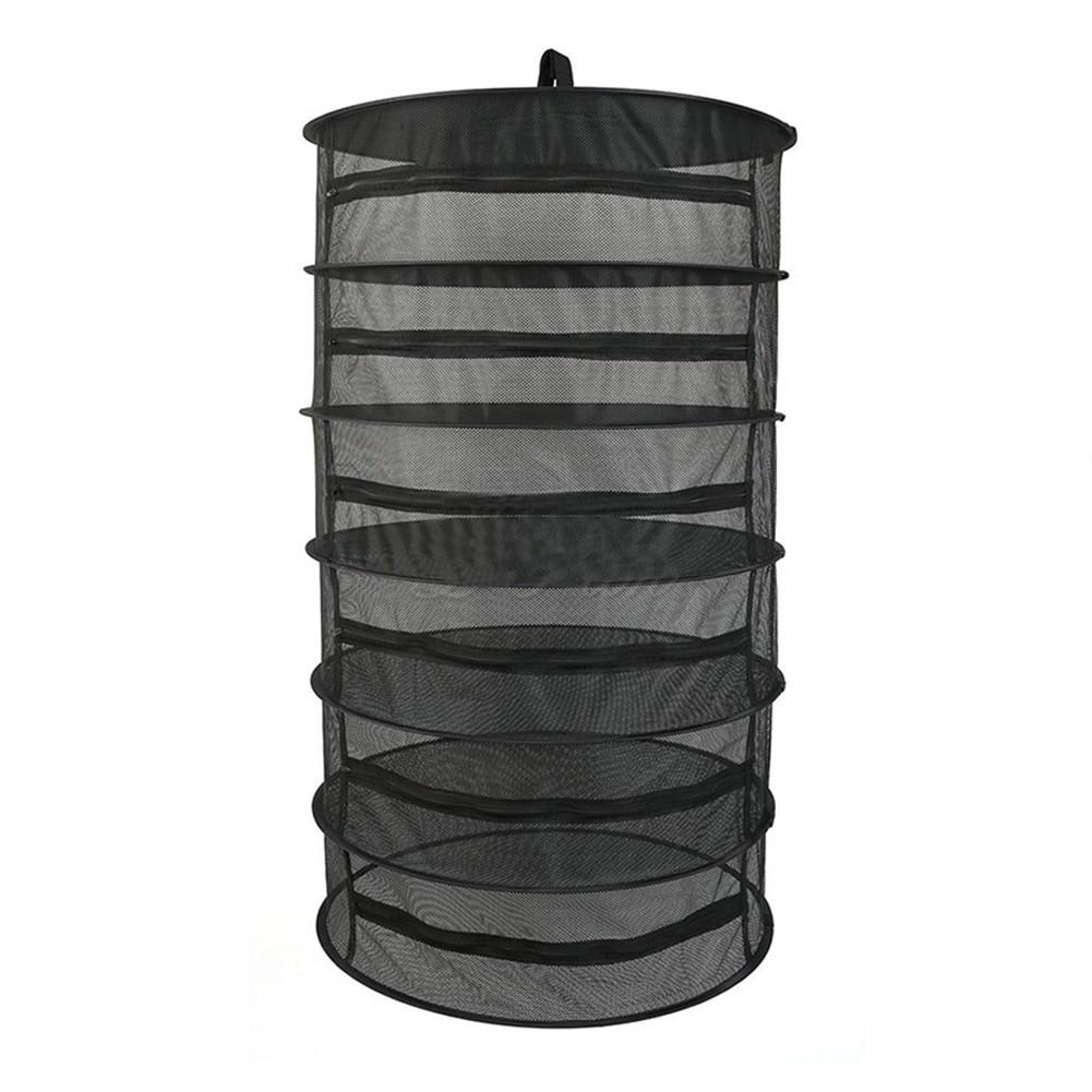 معلق تجفيف صافي الرف 6 طبقات تنفس دائم شبكة الجرف للنباتات الخضار عشب المنزل التخزين والتنظيم TB بيع