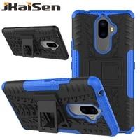 jkaisen shockproof bracket phone case for lenovo k6 a6000 a7010 lemon 3 kickstand protective cover for lenovo k6note k8note