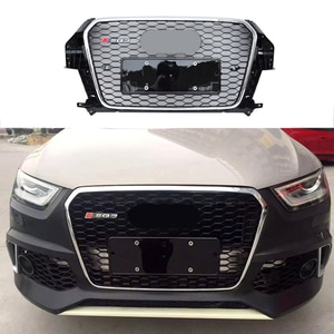 Modified Racing Grills For Q3 Grill For Q3 SQ3 2013 2014 2015 Auto Grille Front Bumper Mesh Cover Grills Grille For Trims