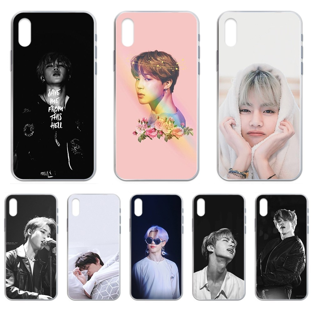 Corea Kpop JiMin Bangtan niños primer caso de teléfono transparente para iphone 4 4S 5 5C 5S 6 6S PLUS 7 8 X XR XS 11 PRO SE 2020 MAX