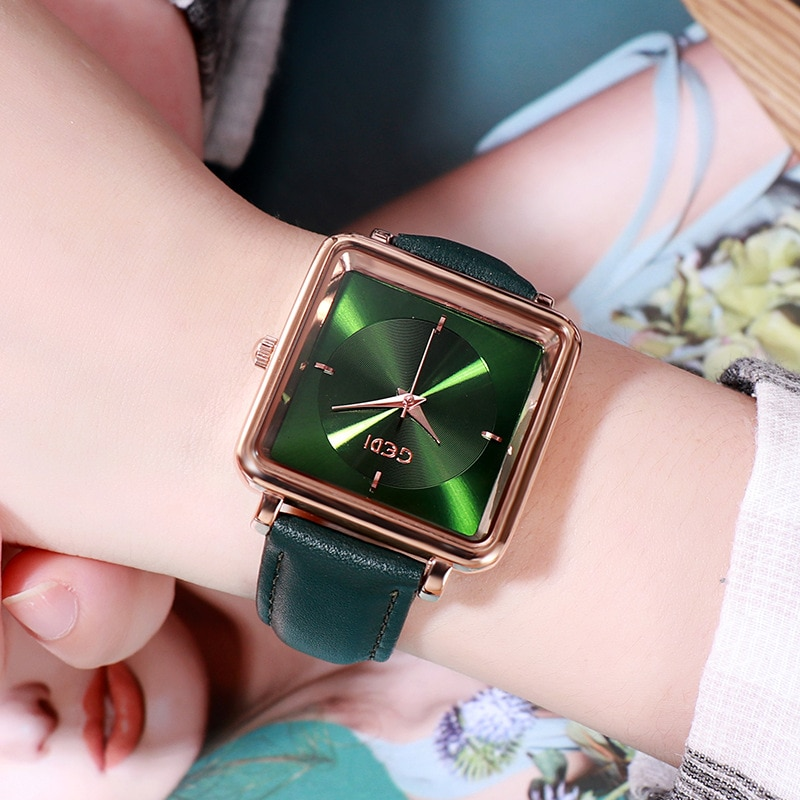 Gedi Luxury Watch for Women Best Selling 2020 Square Waterproof Leather Band Christmas Watch Women Gifts Relojes Para Mujer enlarge