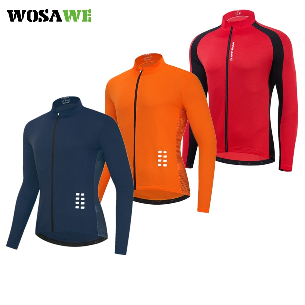 wosawe women spring autumn cycling sets long sleeve jersey set mountain bike clothing bicycle suit 4d gel pad cycling clothes WOSAWE Men's Long Sleeve Cycling Jersey Quick Dry Bicycle Shirts Mountain Bike Jersey MTB Clothing Pockets Spring Summer