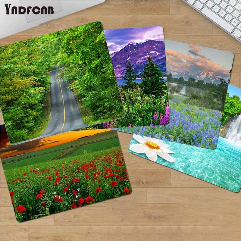 YNDFCNB Забавный природный пейзаж компьютерный коврик для мыши для CS GO/LOL Гладкий коврик для письма настольные компьютеры мате игровой коврик д...
