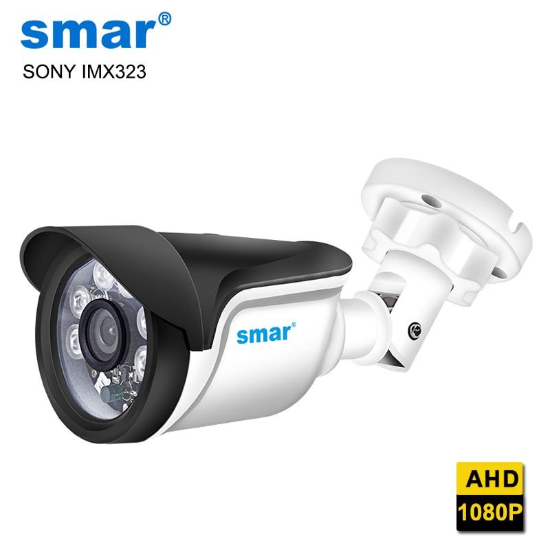 Smar SONY IMX323 сенсор AHD камера наружная 1080P домашняя камера ночного видения 6 шт. Nano IR Led с ИК-подсветкой для AHDH DVR