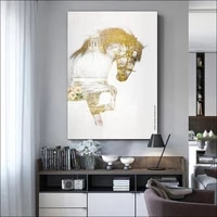 modern canvas painting animal luxury horse spray painting customized drawing un framde diy solid wood frame wall decoration