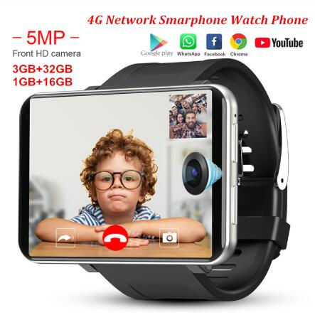 DM100 4G 2.86 Inch Screen Smart Watch Android 7.1 OS Phone 3 GB 32GB 5MP Camera 480*640 Ips Screen 2700mah Battery Smartwatch