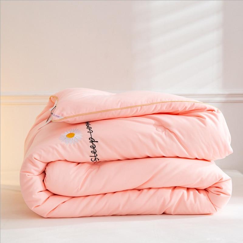 جديد 6 ألوان المعزي الألحفة واحدة مزدوجة لحاف الشتاء دافئ جدا سماكة لحاف بطانية الملك مبطن التوأم المرجحة الملكة