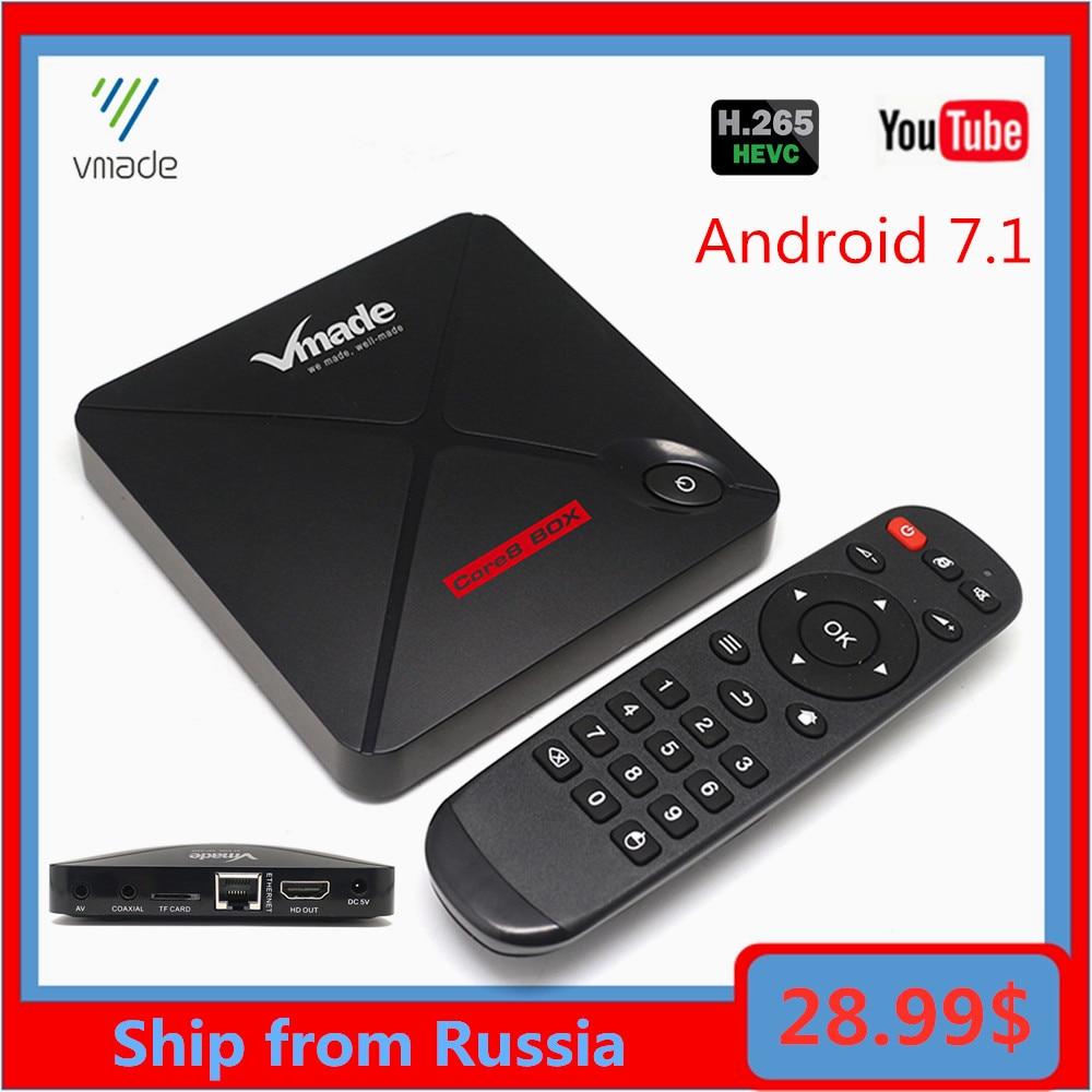 Android 7,1 de Netflix, Youtube HD 4K Smart Android TV BOX Google asistente de voz 2G 16GB Bluetooth 4,2 IPTV caja de la nave de Rusia
