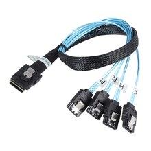 Interne Mini SAS SFF-8087 36-Pin zu 4 SATA 7-Pin Vorwärts Breakout-Kabel 12Gbps 70cm 1M Festplatte Daten Splitteer Kabel Neue
