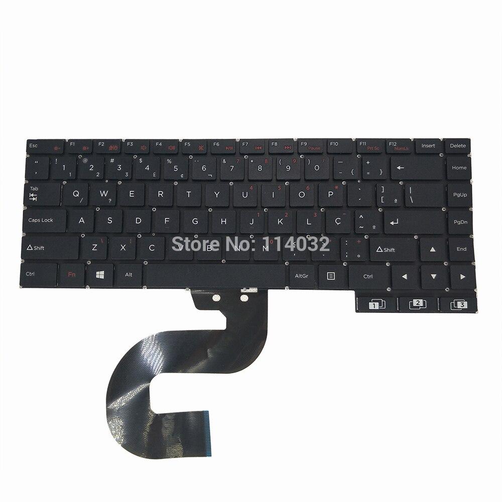Portátil brasileño teclado SCDY-315-18-1 diseño BR portátil negro teclados accesorios clave tapas marca original nuevo funciona
