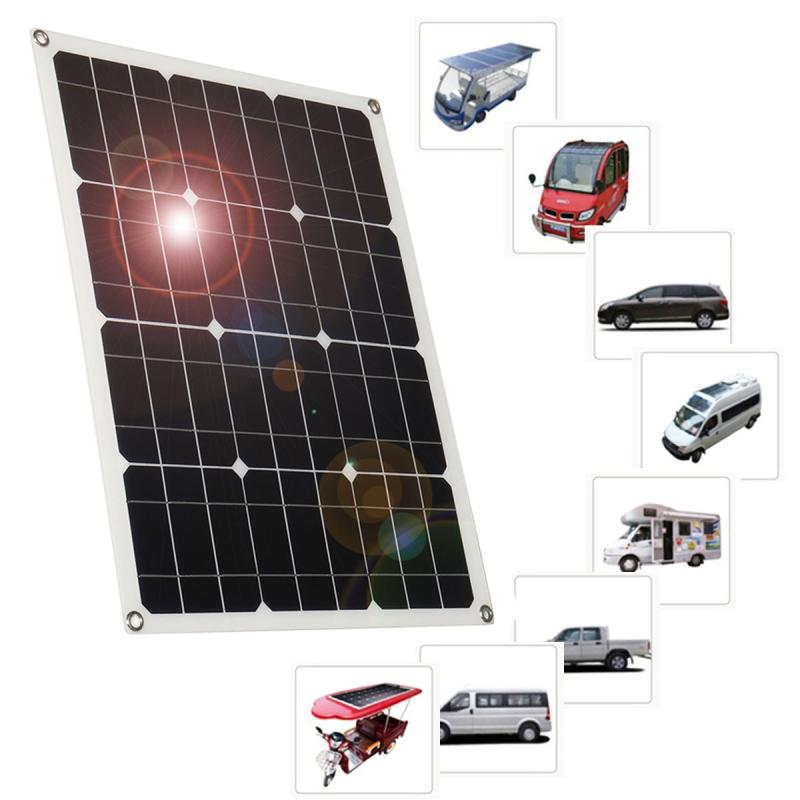 540*430*2.5mm 18V Dual Output Interface Solar Panel Portable Solar Charger Home System for Car Boat Camping battery Waterproof