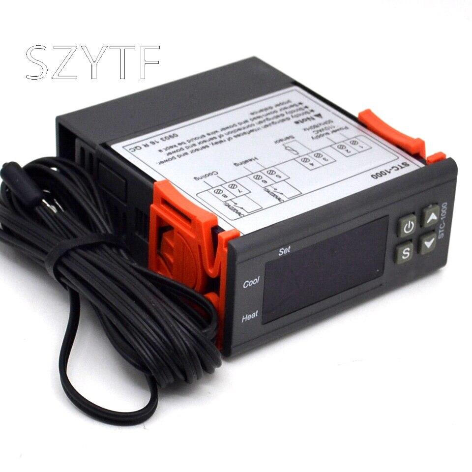 STC-1000 controlador de temperatura STC 1000 termostato acuario Sensor NTC 220V
