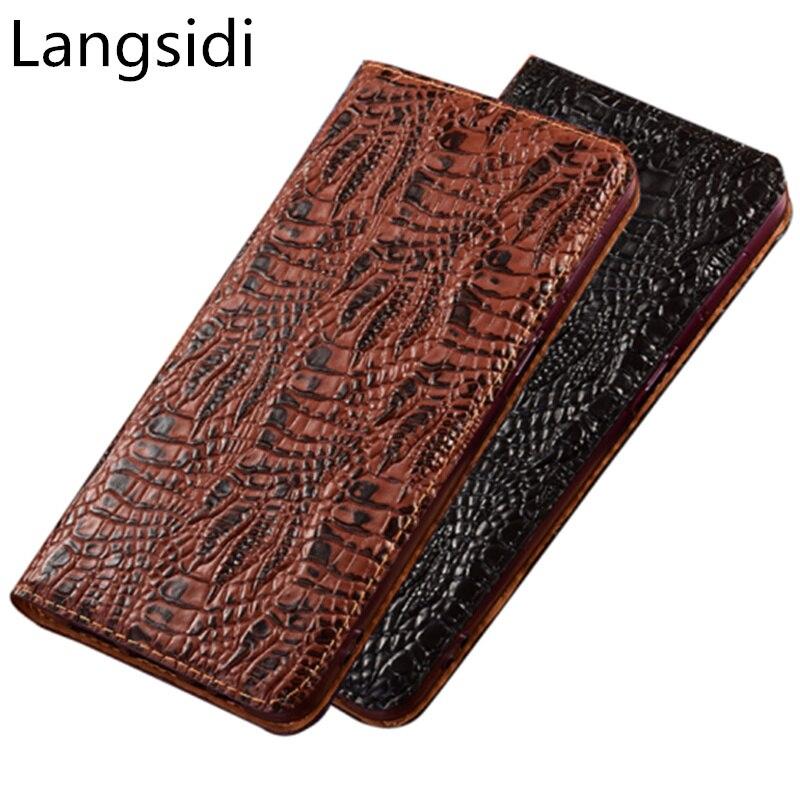 Handmade Luxury Cowhide Leather Phone Bag For Asus ZenFone 4 Max ZC554KL/ZenFone 4 Max ZC520KL Phone Holster Card Slot Holder