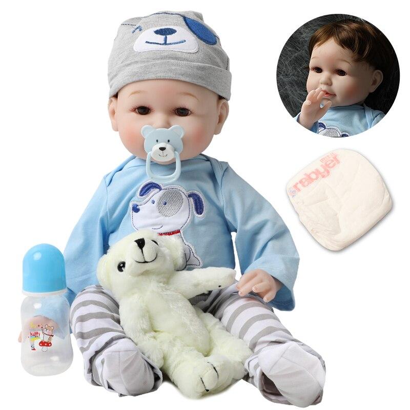 Muñecas Reborn de silicona bebe de 56cm, 22 pulgadas, niño pequeño vivo, realista, realista, chica Real, niño, muñeca bebé, juguetes de juego de cumpleaños para niños