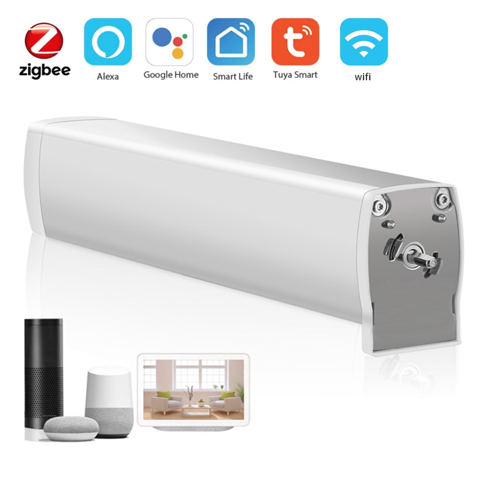 tuya wifi zigbee cortina cego interruptor eletrico motorizado cortina de controle