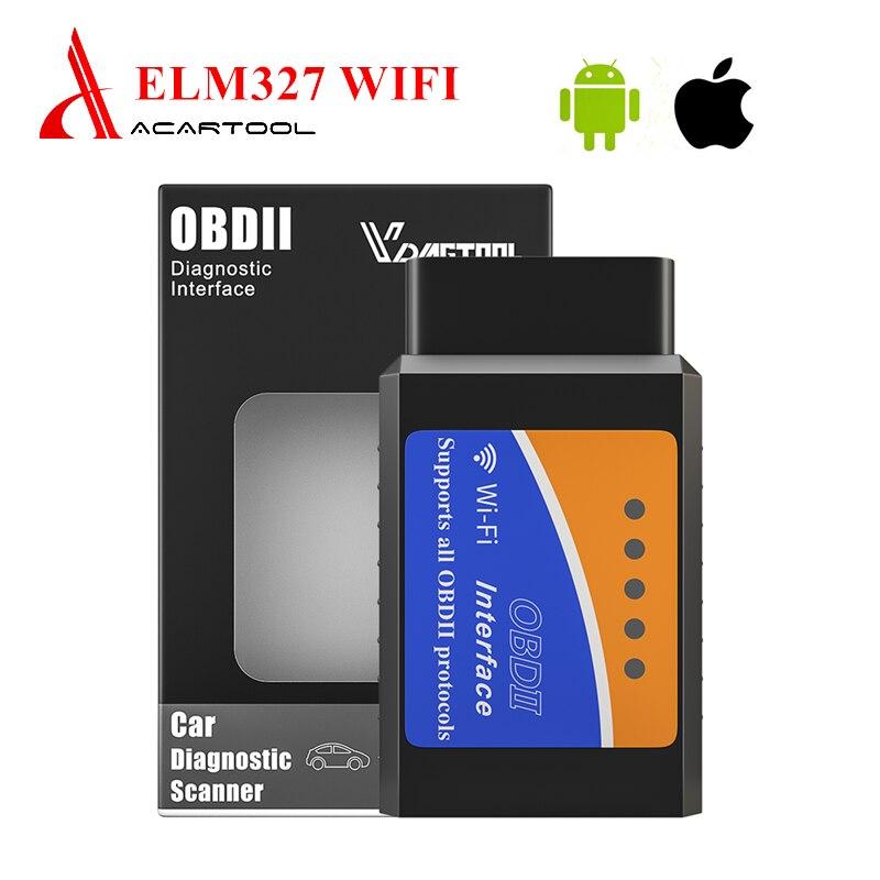 OBD2 ELM327 V1.5 lector de código Wifi herramienta de escaneo automático herramienta de diagnóstico ELM 327 escáner para iSO/Android para coches de gasolina 12V OBD2