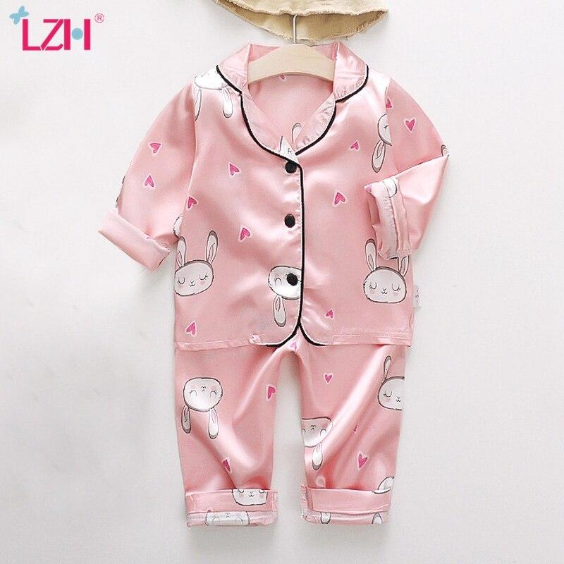 Пижамный комплект для девочек, детская одежда для сна, наряды, летняя и осенняя пижама с длинным рукавом для маленьких девочек, Пижамный костюм для мальчиков, детская одежда|Комплекты пижам| | АлиЭкспресс