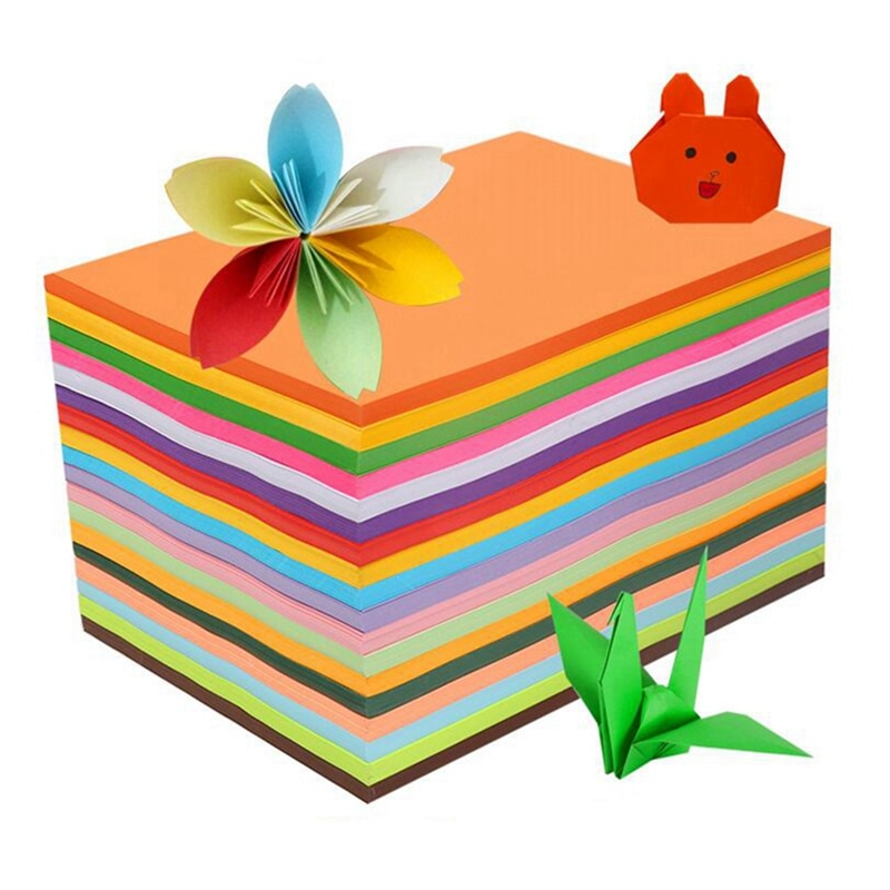 A4 tamanho 80g crianças quebra-cabeça papel corte flor cor artesanal origami pesado laser tinta jet impressão cor fluorescente