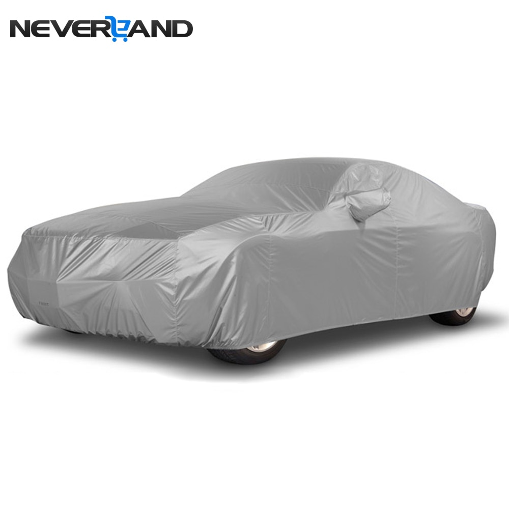 NEVERLAND funda coche CUBIERTA Cubierta UV lluvia nieve polvo protección resistente tamaño S M L XL cubiertas del coche