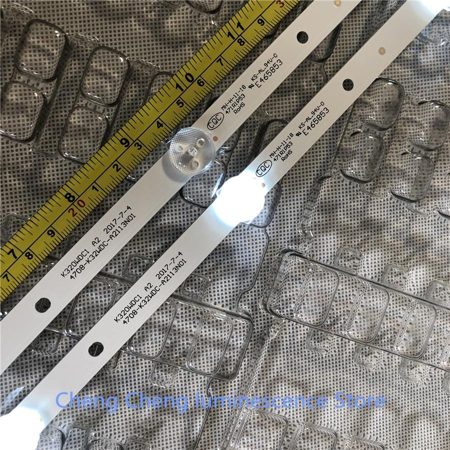 6 peças/lote 6LED 583 milímetros tira conduzida luz de fundo para 32PHF5082/T3 4708-K32WDC-A2113N01 K320WDC1 6V 100% NOVO