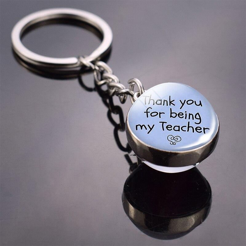 Благодарим вас за то, что вы мой учительский стеклянный шар, брелок для ключей с надписью «Учительская Оценка», брелок для ключей, подарок на день рождения учителя на Рождество