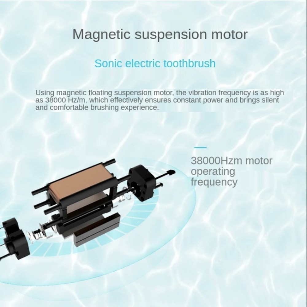 Sonic Magnetic Levitation Electric Toothbrush Whitening  Washable Adult Remove Plaque Waterproof Tooth Brushes enlarge