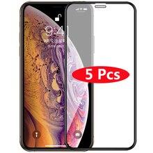 5 pièces couverture complète verre trempé pour iPhone X XS Max XR protecteur décran HD Film de verre pour iPhone 11 Pro Max XR XS Max housse de protection
