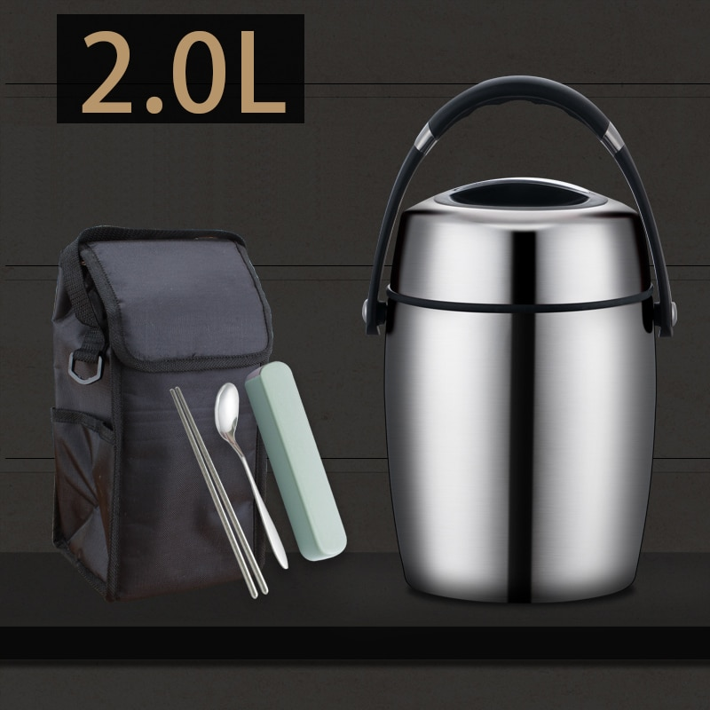10 Hour Thermal Insulation 304 Stainless Steel Vacuum Bento Box Large Food Storage Container Picnic Student School Lunch Box Set