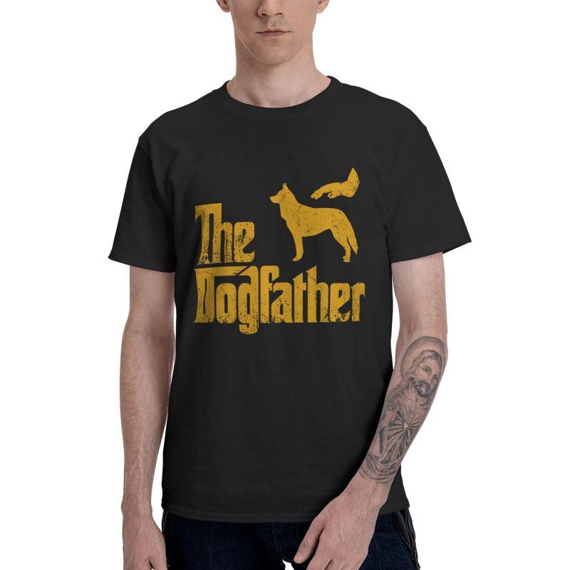 Divertido siberiano camiseta con Husky de moda de los hombres T camisa...