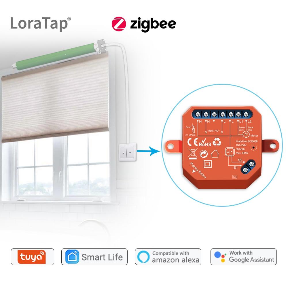 Tuya Zigbee 3,0 модуль переключателя штор для жалюзи с жалюзи мотор совместим с умным домашним помощником Alexa Zigbee2MQTT