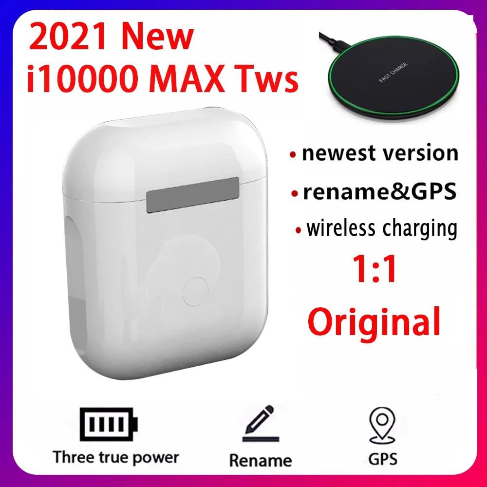 2021 Original i10000 MAX Tws inalámbrica auricular nombre Bluetooth 5,0 Super auriculares...
