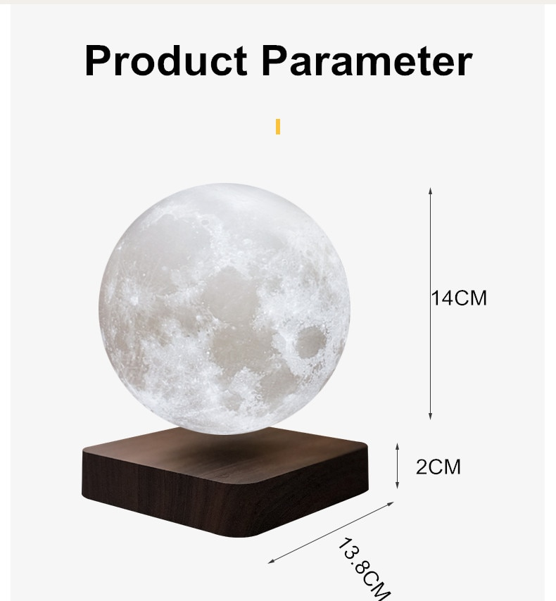 3D Magnetic Levitation LED Night Lights Moon Lamp Rotating Light Floating Table Lamp for Home Decoration Kids Mother's Day Gift enlarge