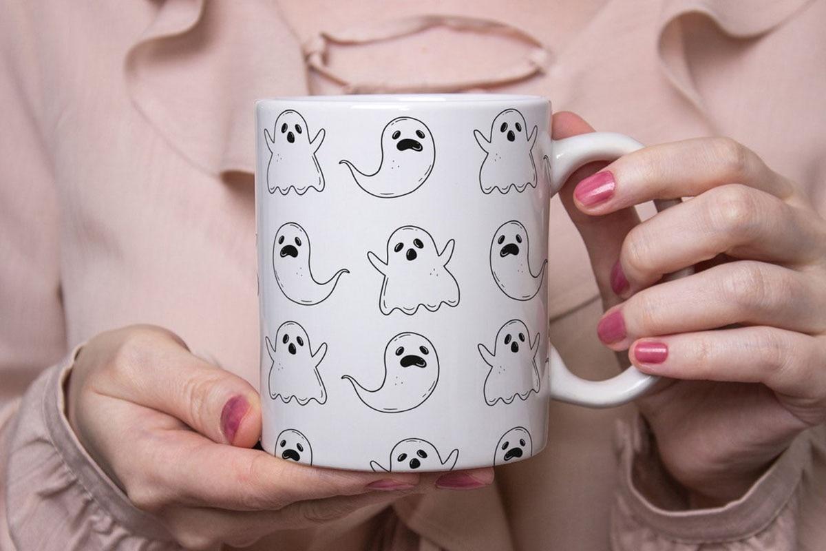 هالوين القدح ، هالوين شبح القدح ، هالوين أكواب القهوة ، سعيد هالوين كوب لطيف ، هالوين أكواب هدية ، شبح القدح ، مخيف القهوة القدح