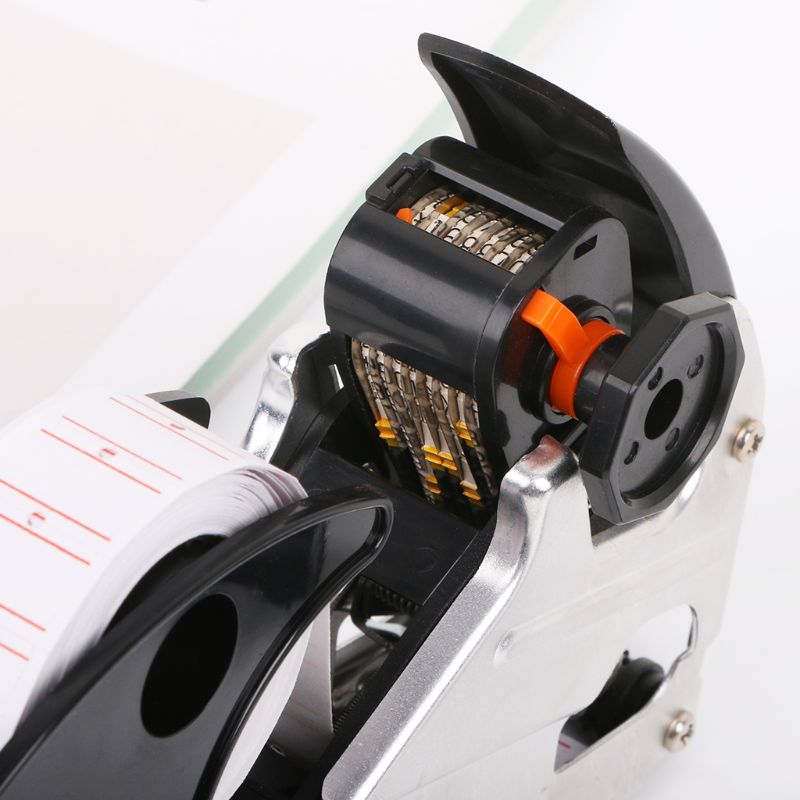 MX-H813 A-line 8 Digits Price Tag Gun Labeler Labeller Label Paper For Retail Store Pricing Tag Display Tool + Ink Roller