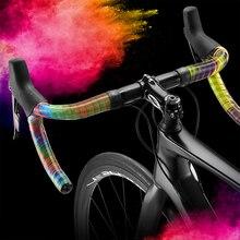 Nouveau ruban de barre de vélo Premium Ciclovation avec Halo tactile vélo de route coloré arc-en-ciel guidon ruban PU Gel organique rembourré