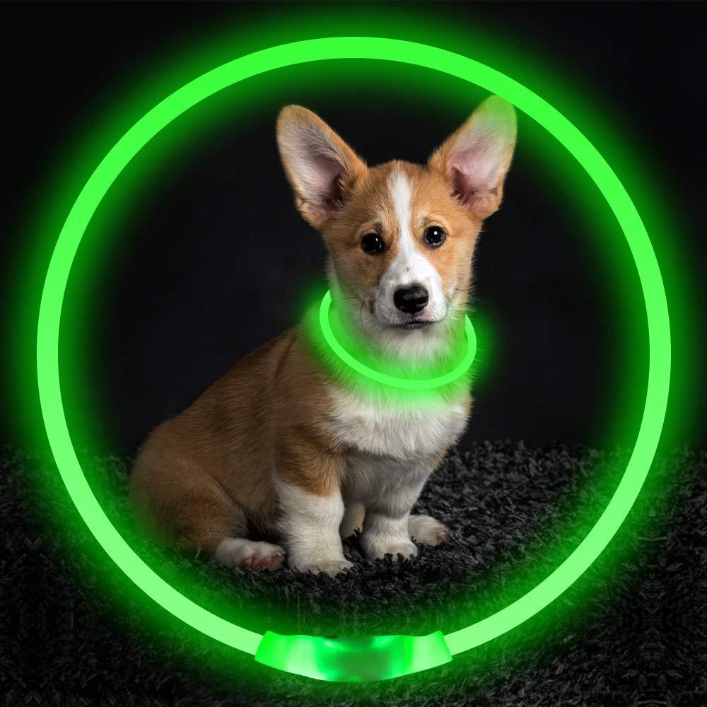 Светодиодный ошейник для собак USB перезаряжаемый светящийся ошейник для собак ошейник для безопасности домашних животных светильник ошейн...