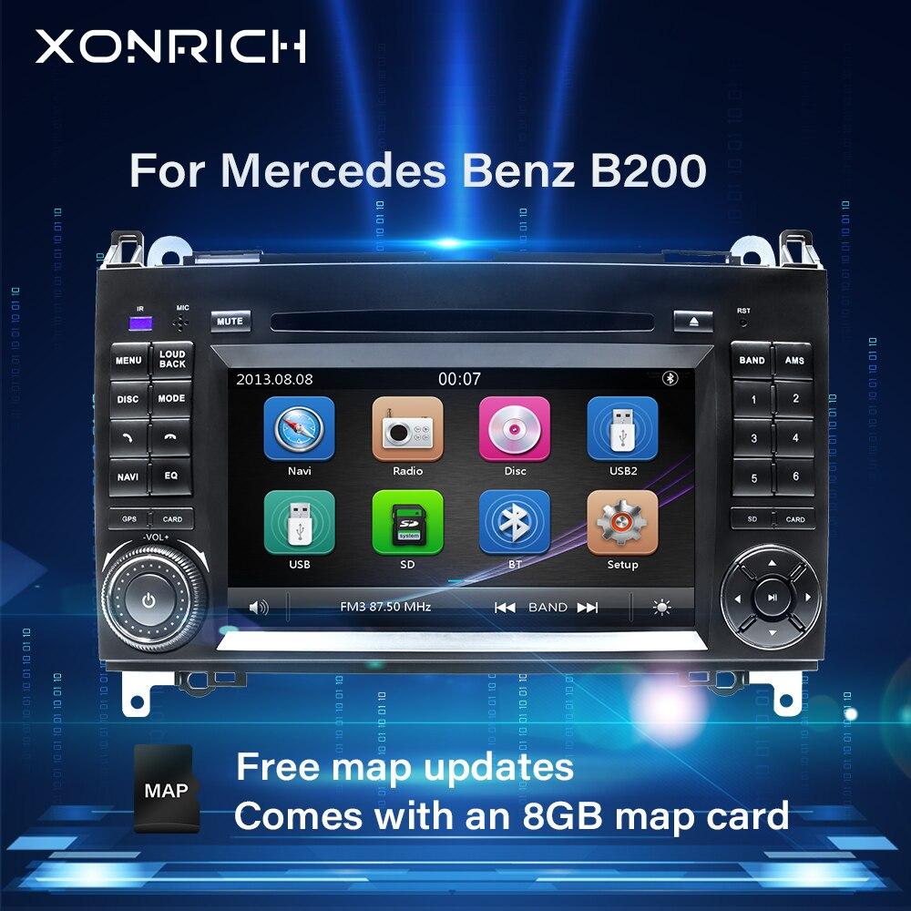 2 Din Car DVD head unit For Mercedes Sprinter Vito W639 W906 Viano B Class W245 W169W209B200 AutoRadio Multimedia GPS Navigation