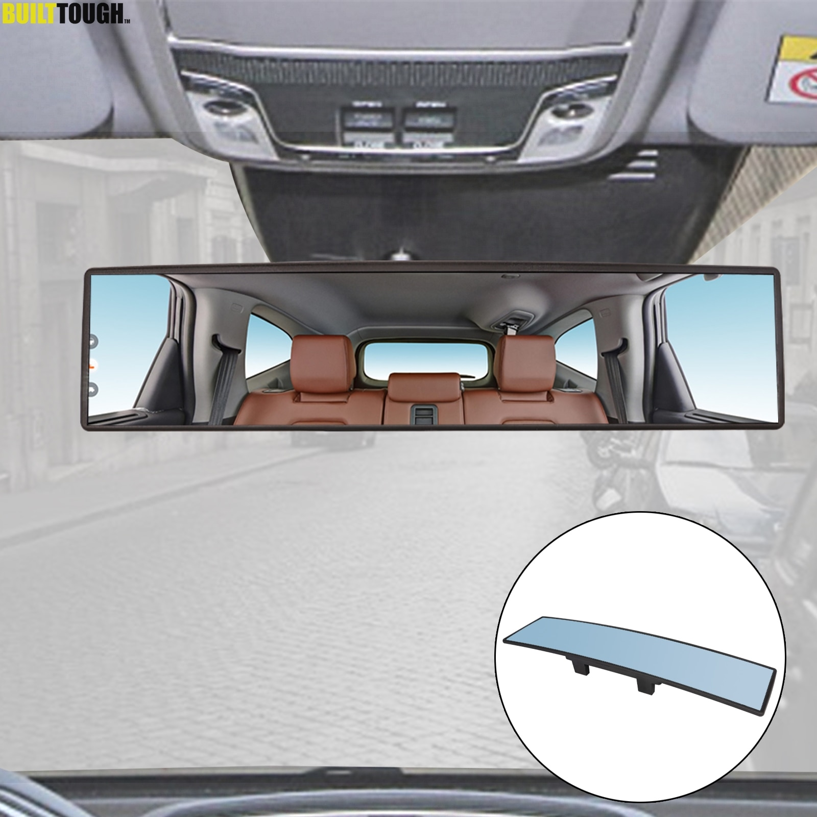 Universal Car Mirror Interior Rearview Mirrors Auto Rear View Mirror Anti-glare Wide-angle Surface Blue Mirror Auto Accessories