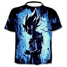T-shirt femme, dessin animé, impression en 3D, caractère z Frieza vegta Goku