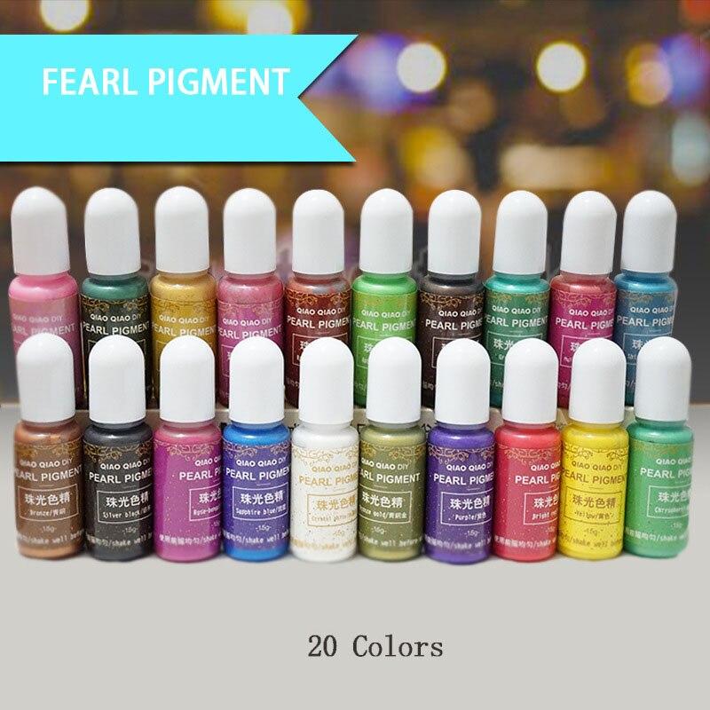 Botella de 15g, pigmento de resina epoxi UV, arte Hecho A Mano DIY, artesanías, colorante para teñido FS99