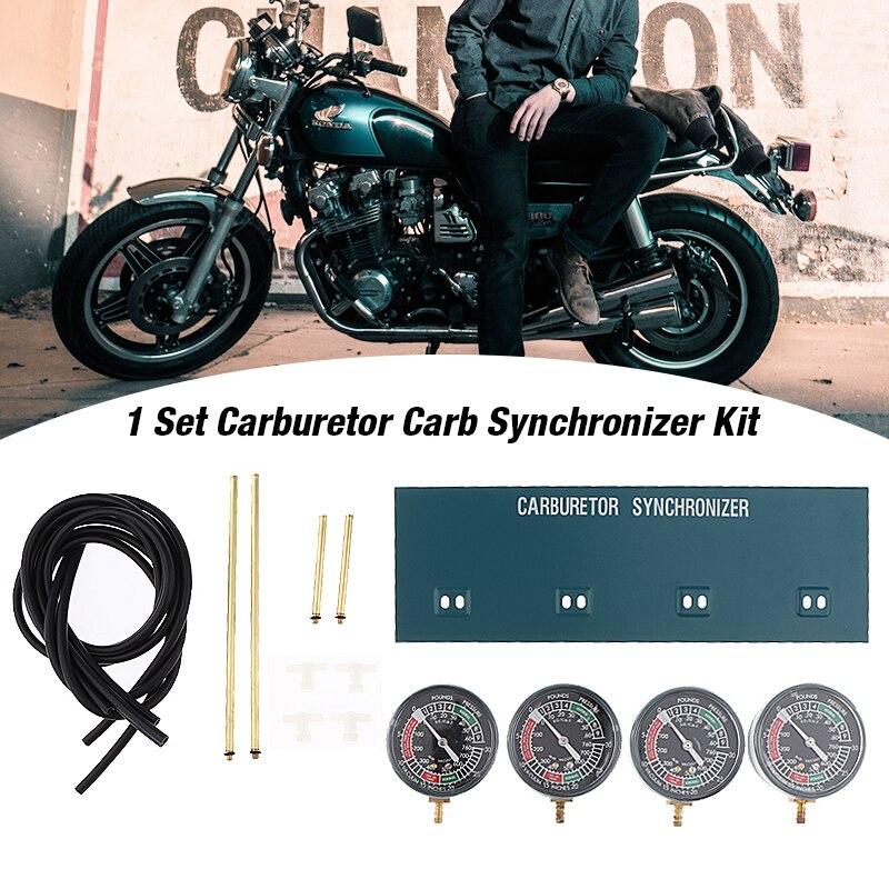 1 Juego de carburador de vacío para motocicleta, sincronizador, indicador de sincronización, Juego de 4 carburadores para motocicletas, medidores de vacío, accesorios de motocicleta de 70mm