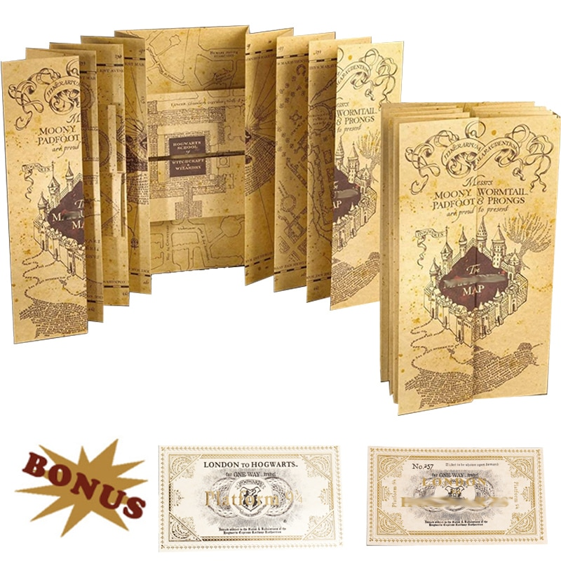 aliexpress.com - Magic School The Marauder's Map of Wizarding World Cosplay Platform 9 3/4 Ticket As Gifts Admission Letter Of School Toy Gifts