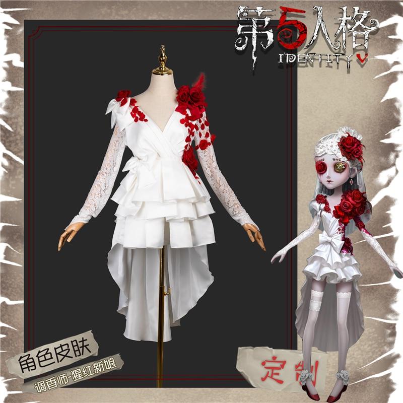 New Game Identity V Vera Nair Scarlet Bride Flower Wedding Uniforms Cosplay Costume H