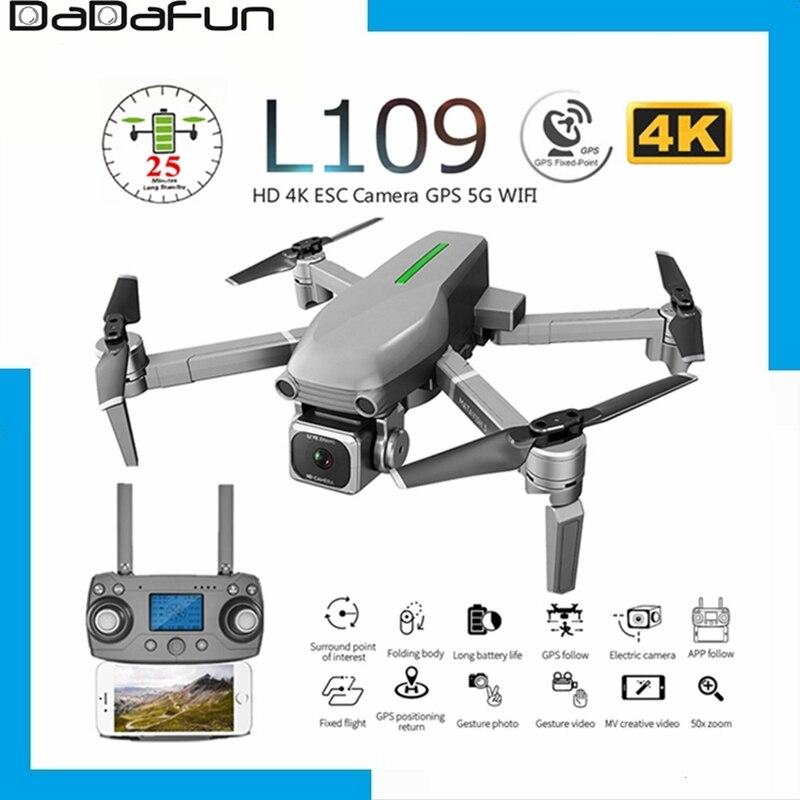 Dron profesional GPS L109 L109-Pro con cámara ESC HD 4K FPV 5G WiFi Motor sin escobillas de flujo óptico RC Quadcopter helicóptero de juguete