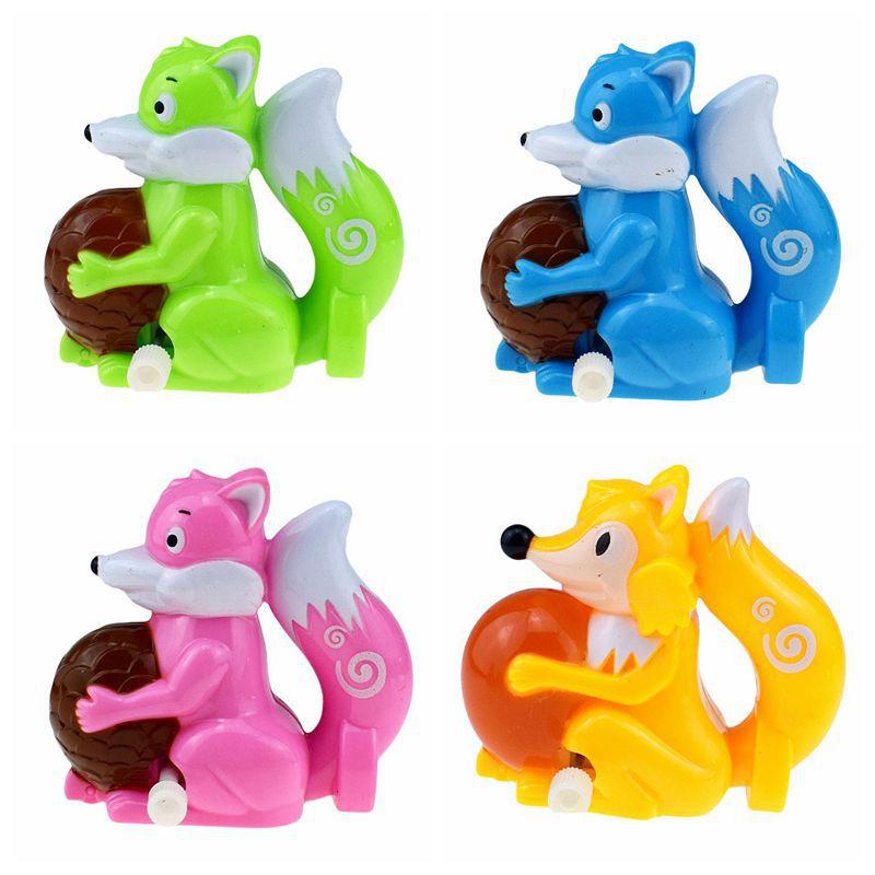 3 pçs/lote Bonito Mini Clockwork Toy A Raposa Esquilo Criativo Clássico Deslizamento Deriva Engraçado Plástico Windup Toy For Kids
