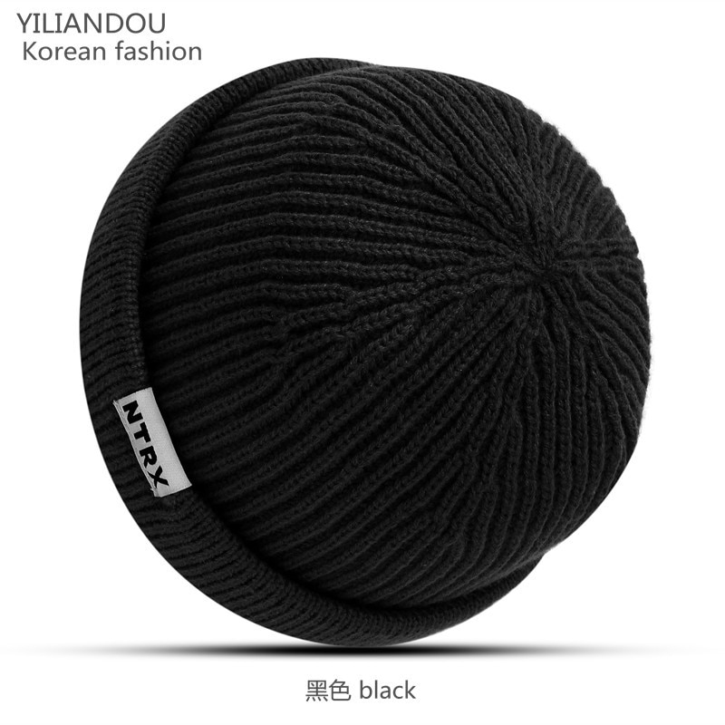 Wholesale 30 Pieces/ Package Winter Brimless Beanies Hat Caps Knitted Thick Warm Melon Loop Beanie Men's Women's Cap