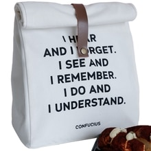 Boîte à Lunch thermique unisexe   Sacs à Lunch imperméables isolés, sac de rangement en toile de coton, pochette de pique-nique de voyage