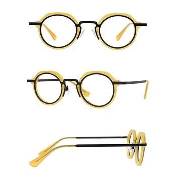 Belight Optical Japan Design ANNE ET VALENTIN Prescription Vintage Retro Irregular Shape Eyeglasses Spectacle Frame Eyewear M2