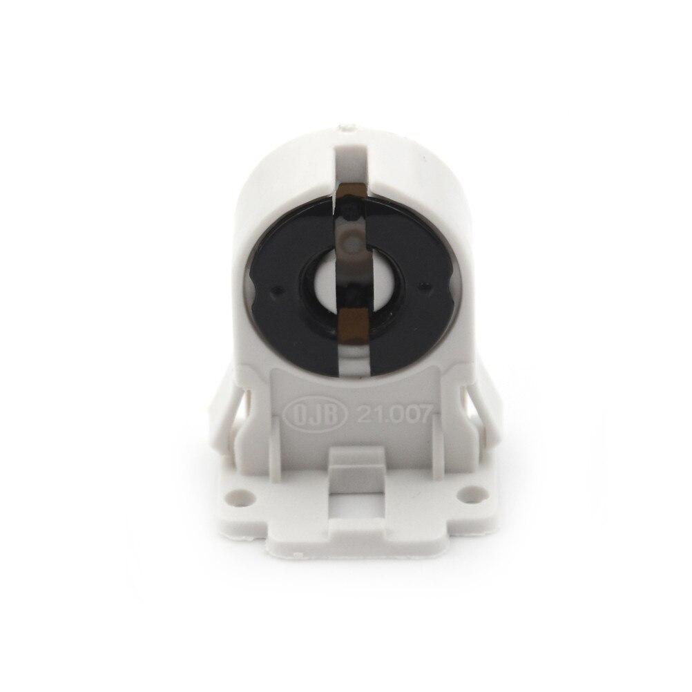 Soporte plástico Base de luz adecuado soporte de lámpara LED T8 G13 soporte de lámpara fluorescente Base de lámpara AC100-250V