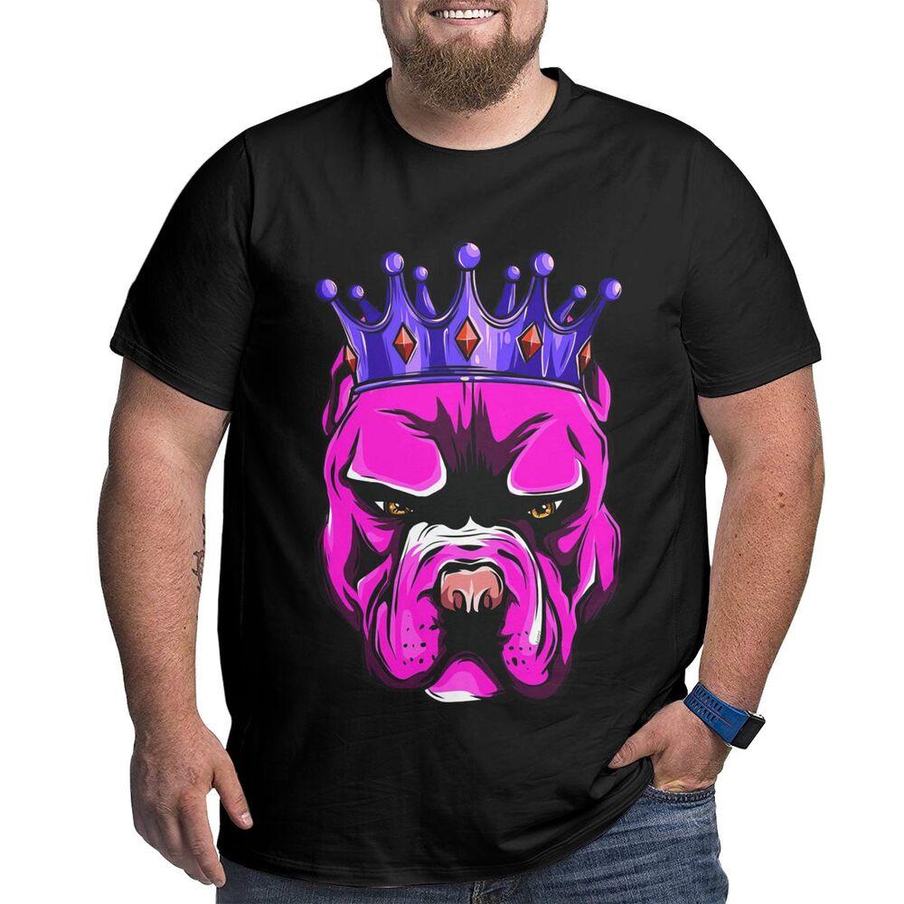 King Dog Graphic T Shirts 6xl Plus Size T-shirt for Men Tops Tee Big Tall Man Summer Workout Shirts